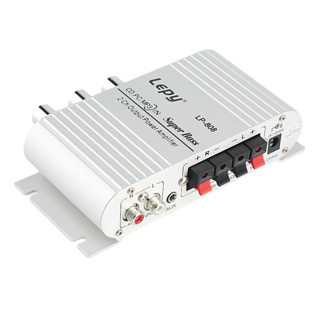 Mini <font><b>HiFi</b></font> Sliver 12V <font><b>200W</b></font> CD MP3 Radio Car Auto Motor Boat Home Audio Stereo Bass Speaker <font><b>AMPLIFIER</b></font> BOOSTRER Verstarker Vehicle image