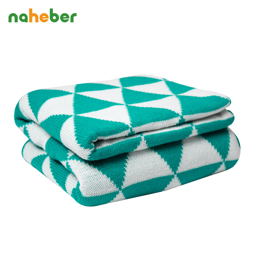 Breathable knitted Baby Blanket Soft Newborn Infant Bedding Kids Plaid Linens 130cm 170cm Baby Wrap Swaddles