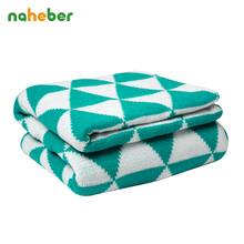 Breathable knitted Baby Blanket Soft Newborn Infant Bedding Kids Plaid Linens 130cm*170cm Baby Wrap Swaddles 8 Colors