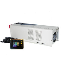 ISO9001 manufacturer pure sine wave 5000watt dc to ac power inverter charger with external LCD display for power tools