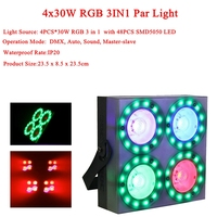 4Pcs Lamp Beads 30W Blinder SMD5050 RGB Stage Ligh LED Club Dj Disco Party Lighting KTV Lamps Wedding Party Shows Equipment