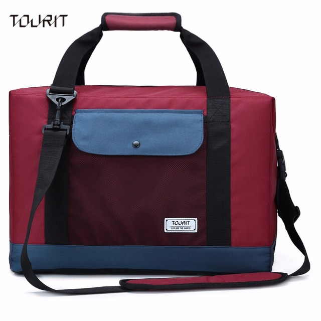47e12e69d50 TOURIT Large Capacity Cooler Bag Cooler Tote Bag for Double Deck Cooler  With PEVA Liner 35 Cans 32L Cooler for Picnics Beach
