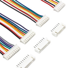 цена на 10Sets JST XH2.54 Wire Cable Connector 15cm Wire Length 26AWG 2/3/4/5/6/7/8/9/10 Pin Pitch Male Female Plug Socket