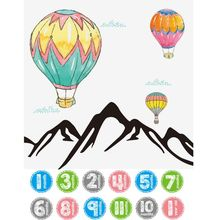 Good Quality Newborn Photography Prop Blankets Air Balloon Printed Backdrop Cloth+ Monthly Photograph Stickers For Baby Boy Girl