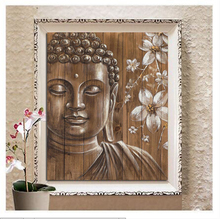 Buddha Flower 5D DIY Diamond Painting Full round Mosaic Rhinestone painting 3D cross stitch embroidery Needleworks Stickers