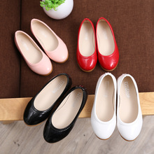 2016 Fall girls fashion single shoes casual simple small shoes princess shoes student soft leather children's shoes