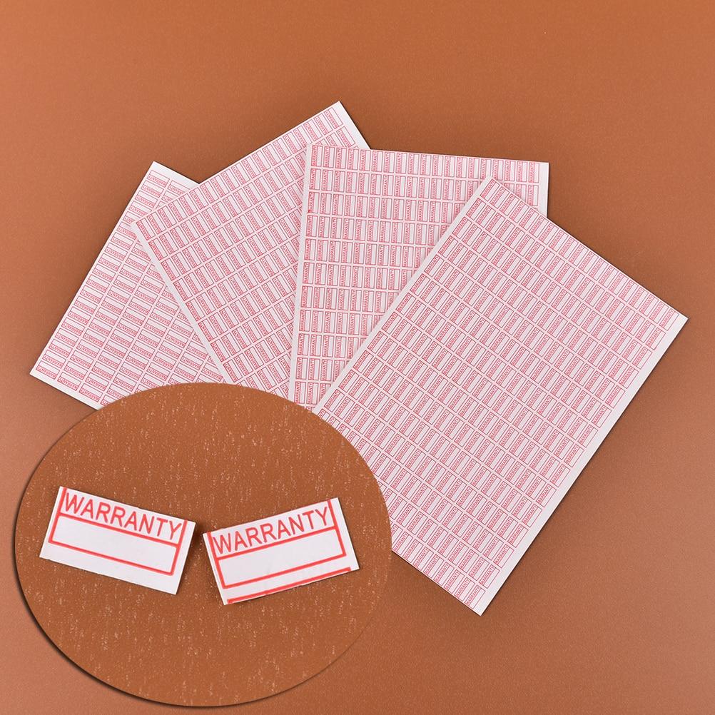 1000 шт./упак. гарантия, пустая, если удалена наклейка, безопасная печать, Прямоугольная форма красного цвета, неустойчивая этикетка размером ...