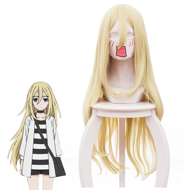 2018 New Arrival Angels of Death Ray Rachel Gardner Cosplay Wig for Women 80cm Long Straight Anime Costume Party Wig Hair Gold ...