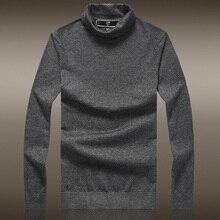 2017 Promotion Top England Style Wool Acrylic Nylon Turtleneck Men's Soft Satin High Collar Sweater Men Hedging Slim Thin Knit