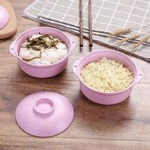 Kitchen Wheat Straw Bowl Tableware Dinnerware Children Dinner Service Healthy Fruit bowl noodel 15.5*12*8cm