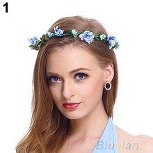 Hot Women Girls Boho Style Floral Flower Hairband Headband Festival Party Wedding 1LDA 7G6M