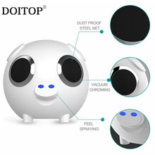 DOITOP Portable Cute Pig Shape Wireless Bluetooth Speaker 3000mah Power Bank Speaker Subwoofer TF Card FM Radio Hands-free Call