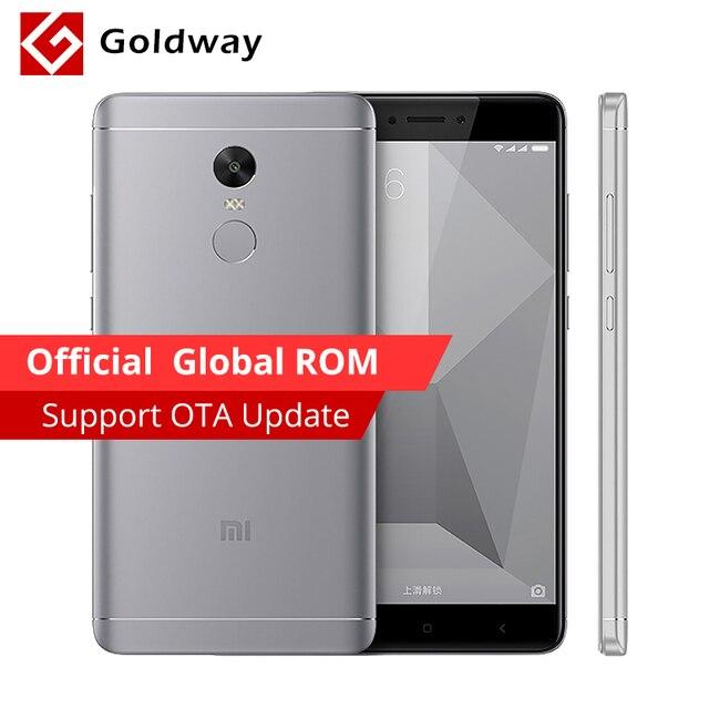 """Оригинальный Xiaomi Redmi Note 4x3 ГБ Оперативная память 32 ГБ Встроенная память мобильного телефона Snapdragon 625 Octa Core 5.5"""" 4100 мАч отпечатков пальцев ID 13.0MP Камера"""