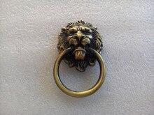 10pcs Antique Bronze Cartoon Lion Head Cabinet Handles Knobs Drawer Pulls Closet Drawer Door Hardware