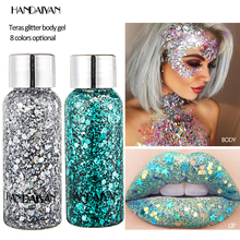 Glitter Sequin EyeShadow Powder Waterproof  For Eye Face Body Makeup Pigment Laser Flash Silver Gold holographic Fast Ship