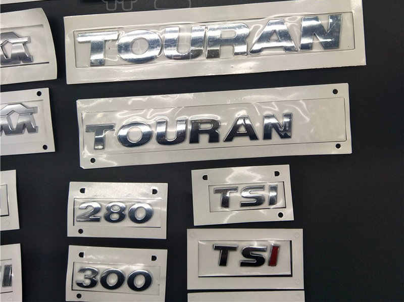 GOLF POLO BORA JETTAa PASSAT TIGUAN TOURAN CC ETI 1,4, 1,6, 230, 300, 330, 380 ABS de galvanoplastia de vuelta de logotipos de señal