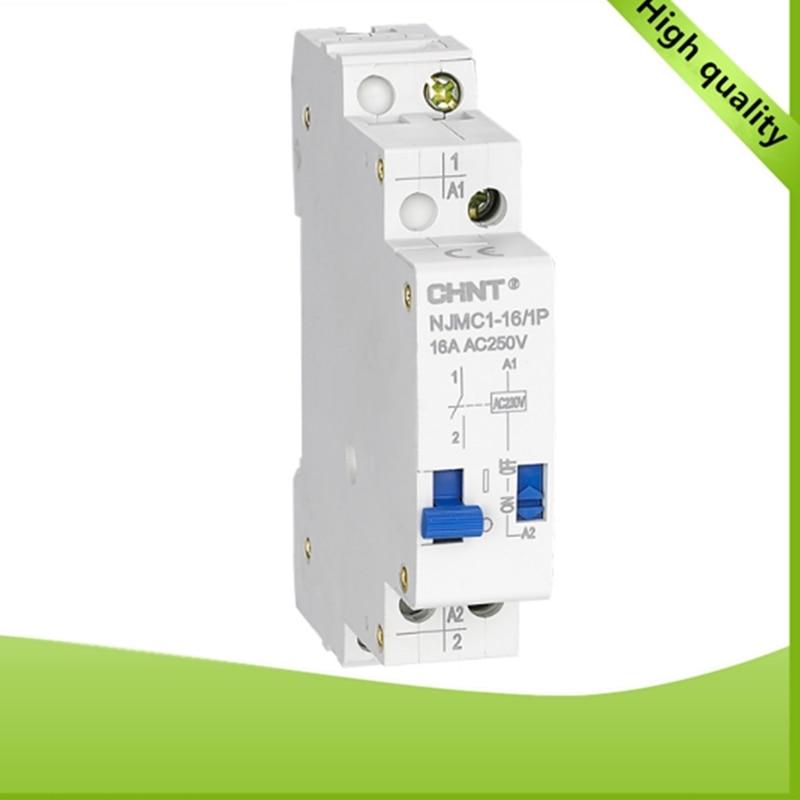 CHNT NJMC1-16/1P 16A AC220V DC24V Unipolar pulse relay выключатель chnt cnht lw112 16 1