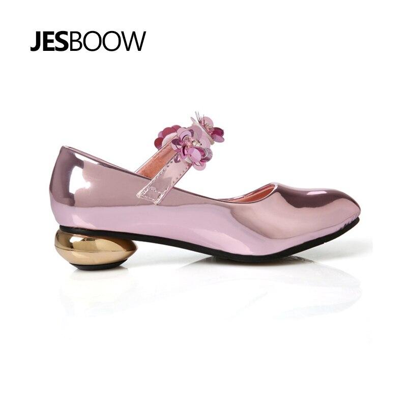 Meisje bloem strass prinses schoenen Gevormde hiel schoenen Dansende - Kinderschoenen - Foto 3