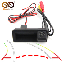 Sinairyu Trajectory HD Car Trunk Handle Reverse Rear View Backup Parking Camera for Ford Focus Mondeo 2010 2011 2012 Waterproof