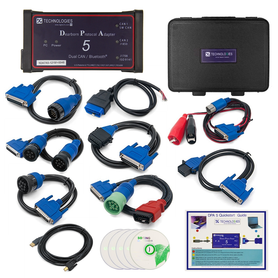 Image 5 - 2019 Professional DPA 5 Dearborn Protocol Adapter 5 Full Adapters DPA5 Heavy Duty Truck Scanner Without Bluetooth Dual CAN DPA on