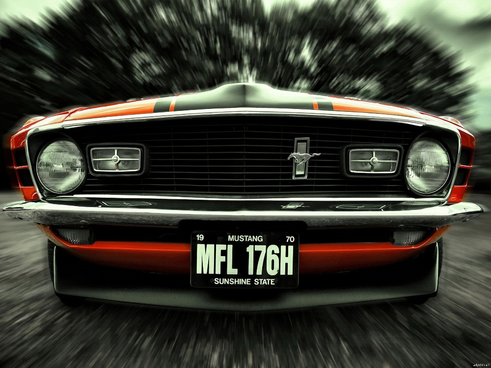 Ford Mustang 1970 Muscle Car Blur Art Huge Print Poster Txhome D2478
