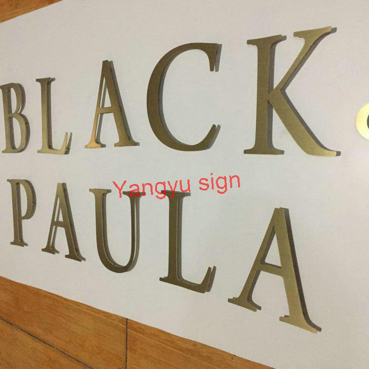 Laser Cut Metal Signs >> Aliexpress Com Buy 3mm Gold Laser Cut Metal Letters Stainless