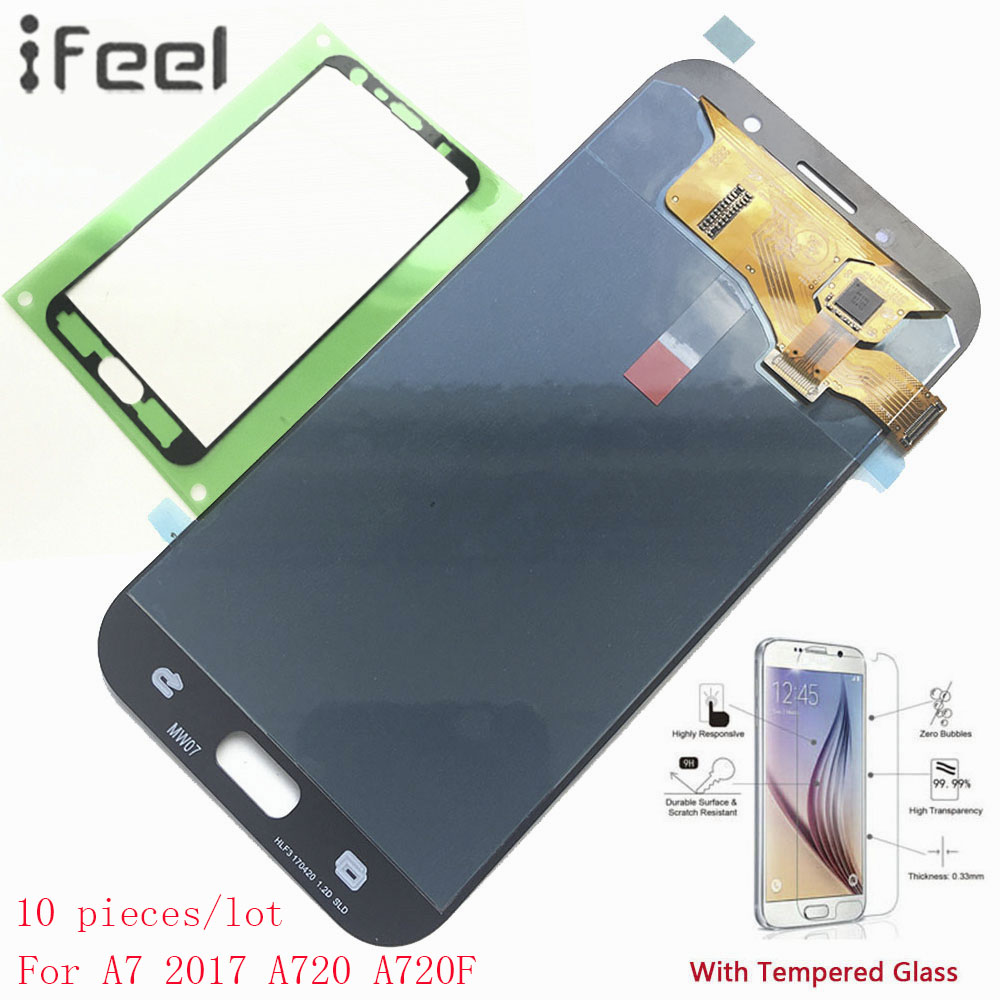 IFEEL 10 pieces/lot For Samsung Galaxy A7 2017 A720 A720F A720F/DS 100% Tested Super AMOLED LCD Display Touch Screen DigitizerIFEEL 10 pieces/lot For Samsung Galaxy A7 2017 A720 A720F A720F/DS 100% Tested Super AMOLED LCD Display Touch Screen Digitizer