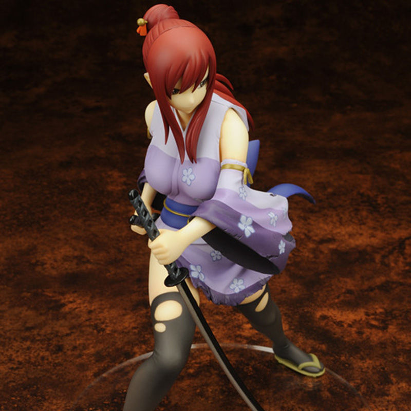 ZXZ Anime Fairy Tail 2 Edition Erza Scarlet Doll 1/7 Scale Painted PVC Action Figure Sexy Cute Girl Collectible Model Toys anime k on 5th anniversary akiyama mio 1 7 scale painted pvc action figure collectible model toy 22cm