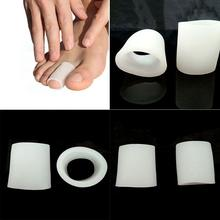 1Pair Portable Hallux Valgus Pain Tube Shaped Bunion Protector Blister Relief Silicone Gel Toe Separators Stretchers(China)