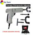 Columna terapia Instrumento de Ajuste Quiropráctico \ Corrección Activador pistola impulso Masajeador, 4 Cabezas de intensidad regulable
