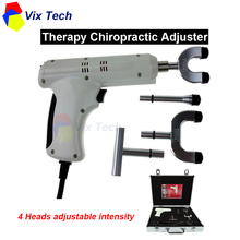 Therapy spine Chiropractic Adjusting Instrument  Correction Activator Massager impulse gun, 4 Heads adjustable intensity