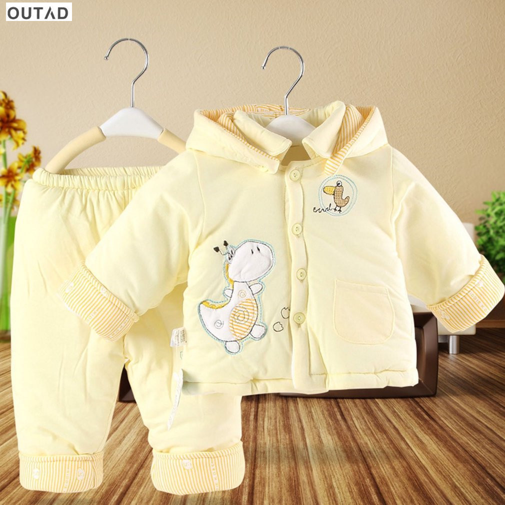 2017 Baby Clothing Sets Autumn And Winter Comfortable Warm Thickening Cotton Padded Baby Clothes And Pants Suit For Newborn Baby