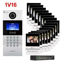 SMTVDP New TCP/IP HD digital video intercom doorbell 4.3 screen, residential intelligent electronic access control system 1V16