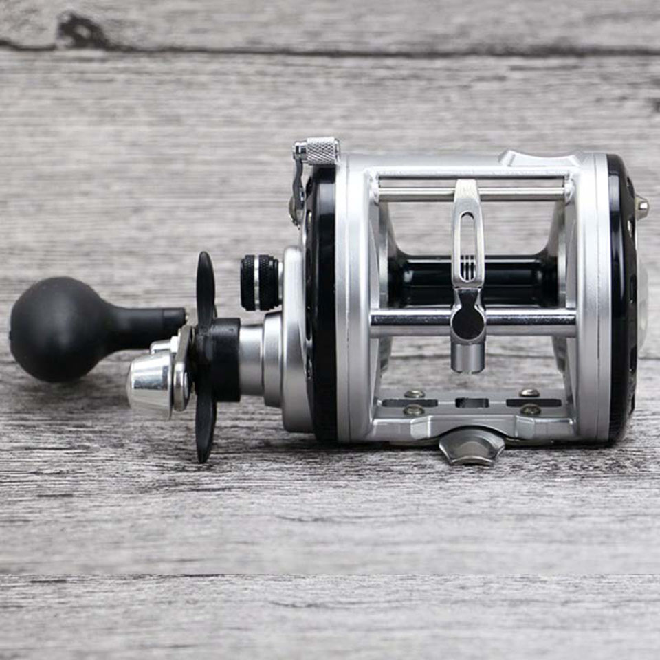 12+1BB Drum Saltwater Fishing Reel Centrifugal Brake System Baitcasting Fishing Reels Bait Casting Right Hand Surfcasting Reel new 12bb left right handle drum saltwater fishing reel baitcasting saltwater sea fishing reels bait casting cast drum wheel