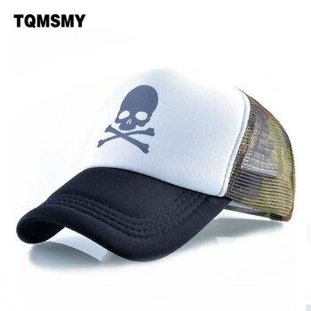 Unisex hueso cráneo patrón gorra de béisbol hombres Hip Hop gorras Snapback  caps malla transpirable sun sombreros para las mujeres casquette 7501309425e