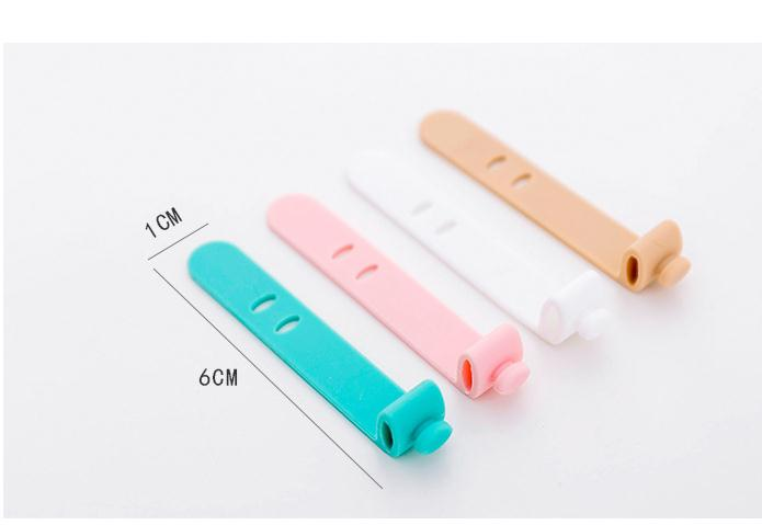 4 colors Candy color Smart Wrap For Headphone Earphone Bone Type Bobbin Winder Cable Organizer