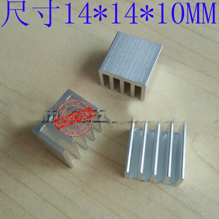 Free Shipping Wholesale 100PCS  High Quality Adhesive Cpu Heatsink 14*14*10MM Router Heatsink