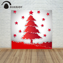 background photo christmas photography Retro tree star paper cut red xmas vinyl color newborns funny merry