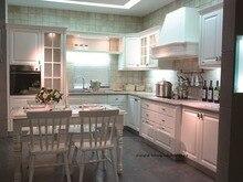 PVC/vinyl kitchen cabinet(LH-PV025) solid wood curved shape kitchen cabinet lh sw089