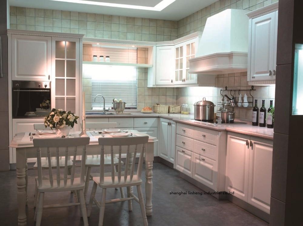 PVC/vinyl kitchen cabinet(LH PV025)-in Kitchen Cabinets ...