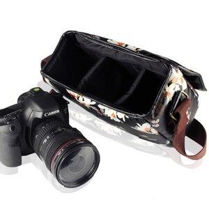Image 4 - Wennew Su Geçirmez PU deri kılıf Fotoğraf Çantası kamera çantası Nikon D5300 D7200 D750 D5600 D5400 D5200 D3400 D3500 D3000 D90 D80