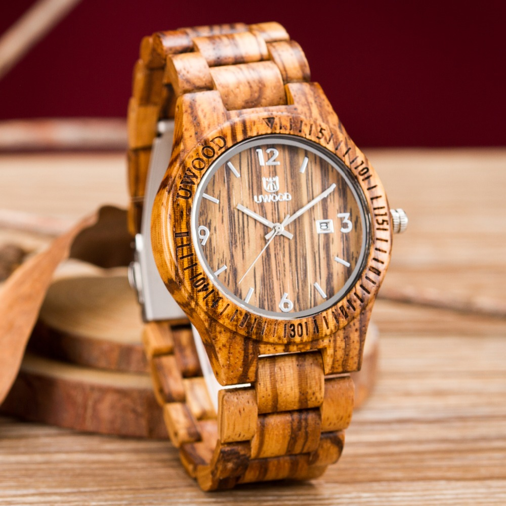 2016 Newest style Man Wooden Watch New Year Gift Bangle Quartz Watch With Calendar Display Role Men Relogio Masculino Watches skone 2017 hot sell men dress wooden quartz watch with calendar display bangle