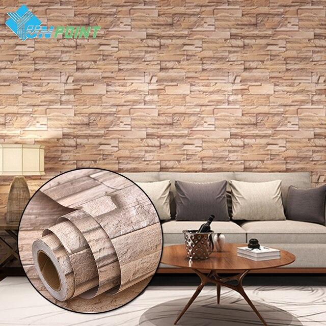 3d Effect Stone Brick Wall Textured Vinyl Wallpaper Self Adhesive Aliexpress Com Buy 3m 5m Modern Vinyl Self Adhesive