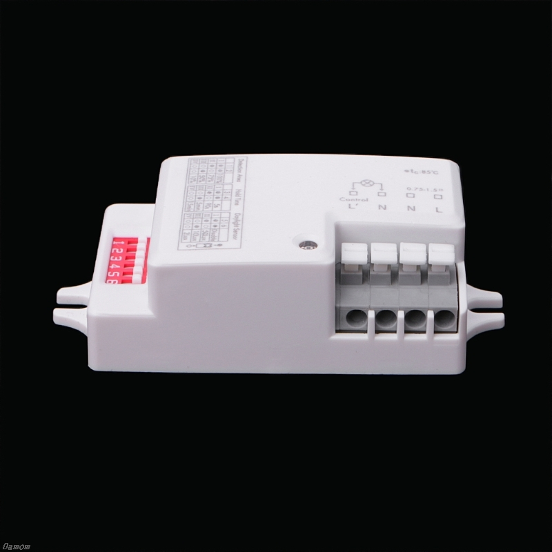 AC 220V-240V/50Hz Microwave Radar Sensor Body Motion Detector For LED Light Damom 220v microwave radar sensor inductive light switch pir occupancy body motion sensing detector 1200w for lamps