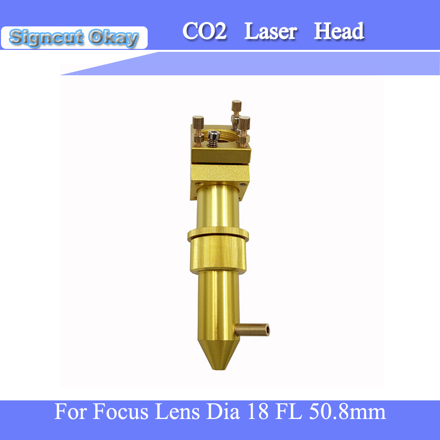 Free Shipping CO2 Laser Engraving Machine Parts With Yellow Color Laser Head For Laser Machine 18 FL 50.8mm Laser Lens