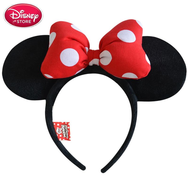 Christmas Minnie Mouse Head.Us 5 2 20 Off Disney Minnie Mouse Mickey Mouse Head Ears Girls Hair Bands Disney Princess Headdress Hoop Plush Toys Bag Keychain Christmas Toy In