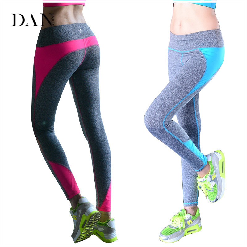 DANENJOY New Yoga Pants Women Sport Leggings Tracksuits Tights Fitness Women Quick-Drying Polyester Compression Pants Sportswear