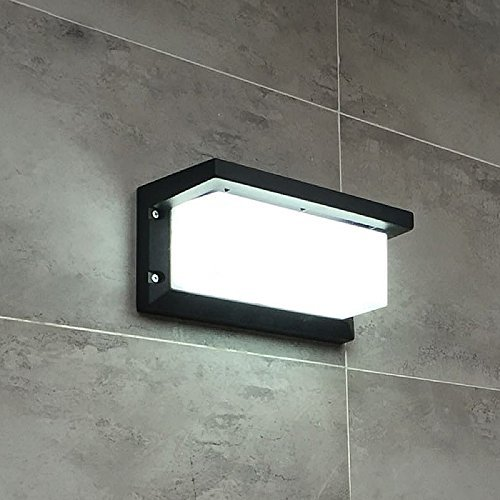 Wall Light Led Sconce Square Metal Bulkhead Lights Exterior Waterproof Lighting Fixture Grey Color 10w Cold White In Lamps From