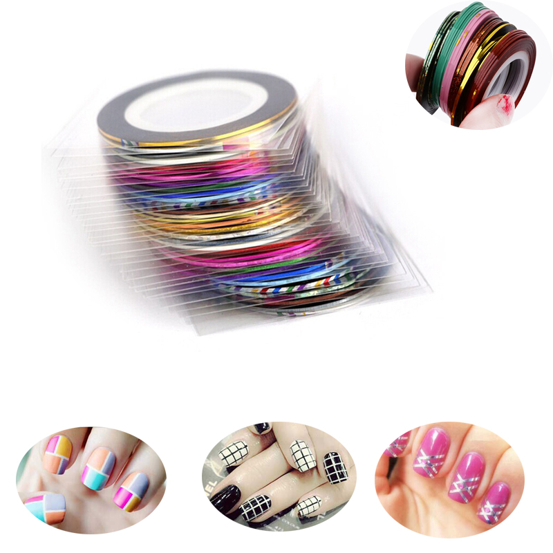 40 Pcs/Lot Nail Art Striping Glitter Tape Nail Art Tips