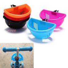 Милая Детская велосипедная корзина, пластиковая легкая установка, велосипедная сумка, детская ручка для скутера, барная корзина с кронштейном, Аксессуары для велосипеда